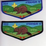 Ktemaque Lodge #15 2003 Curtis S. Read Scout Reservation Flaps