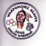 Lodge 19 Wakpominee Chapter eR2003