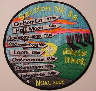 Section NE-3B 2006 NOAC Jacket Patch