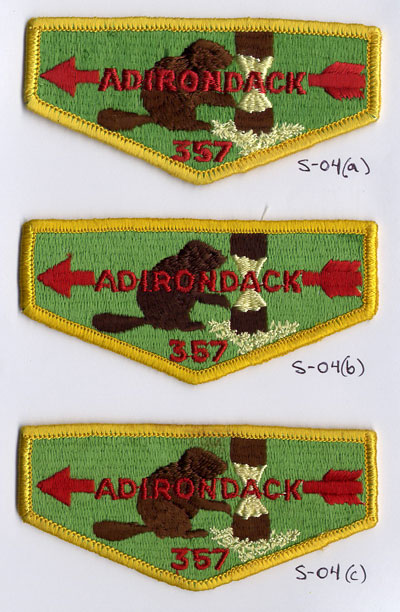 Adirondack Lodge #357 S4a, S4b and S4c Varieties
