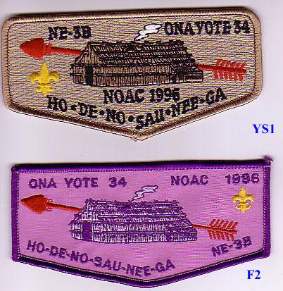 Ona Yote Lodge #34 YS1, and F2
