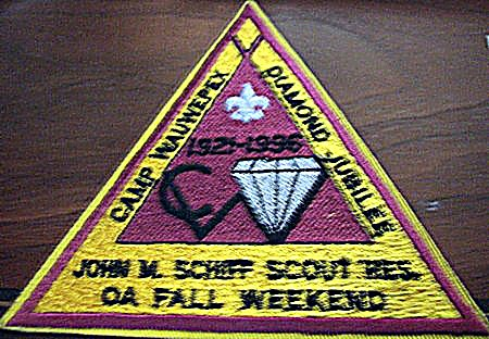 Buckskin Lodge #412 Event Patch eX1996- 3 OA Fall Weekend