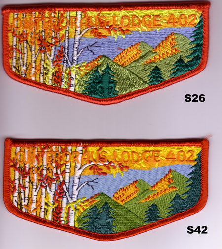 Onteroraus Lodge #402 S26 and S42 Ordeal Flaps