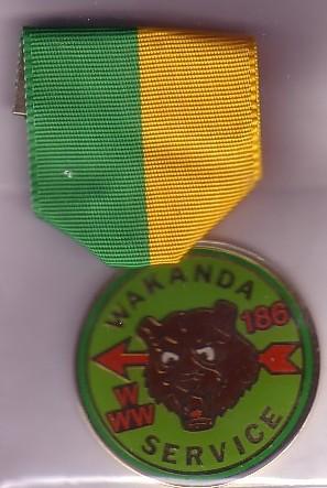 Wakanda Lodge #186 Service Medal Youth?
