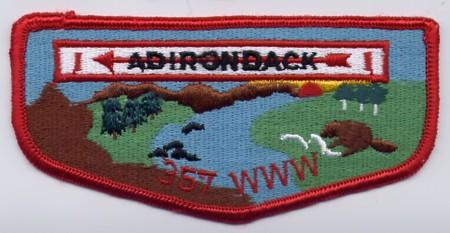 Adirondack Lodge #357 Fake Flap - ZS4