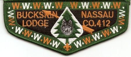 Buckskin Lodge #412 S54 New Regular Issue Flap