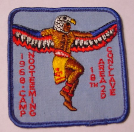 18th Annual Area 2-D Conclave 1968 Pocket Patch