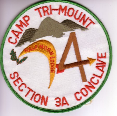 Section NE-3A 1974 Section Conclave Jacket Patch