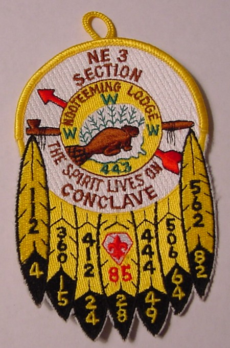 Section NE-3 1985 Section Conclave Pocket Patch