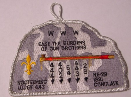 Section NE-2B 1991 Section Conclave Pocket Patch