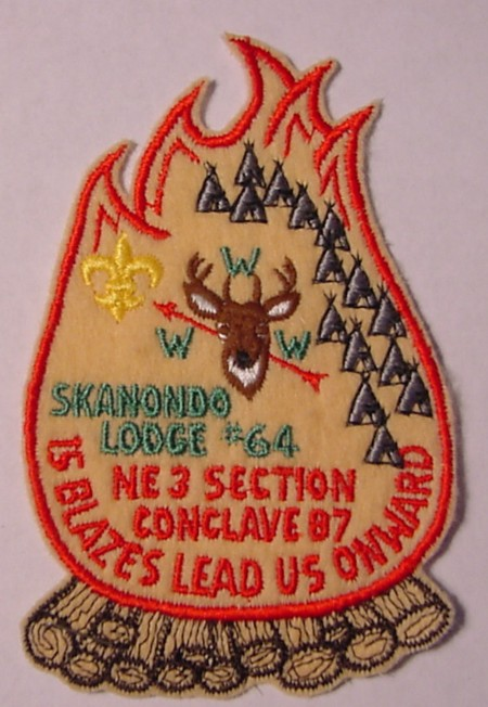 Section NE-3 1987 Section Conclave Pocket Patch