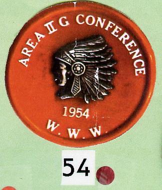 Area 2-G 1954 Section Conclave Neckerchief Slide
