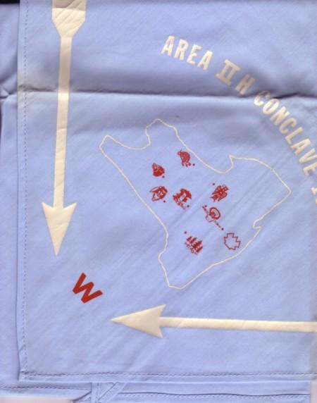 Area 2-H 1961 Conclave Neckerchief