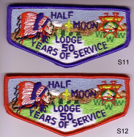 Half Moon Lodge #28 S11 and S12 50th Anniversary Flaps