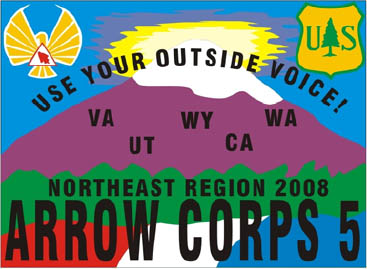 Northeast Region ArrowCorps5 Pocket Patch