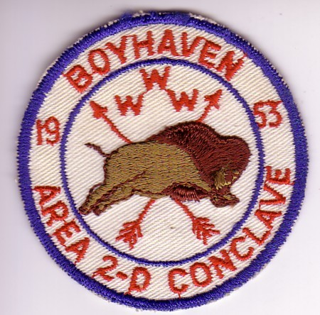 Area 2-D 1953 Conclave Pocket Patch