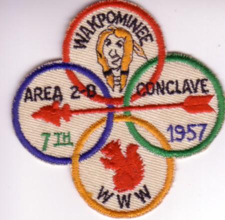 Area 2-D 1957 Conclave Patch