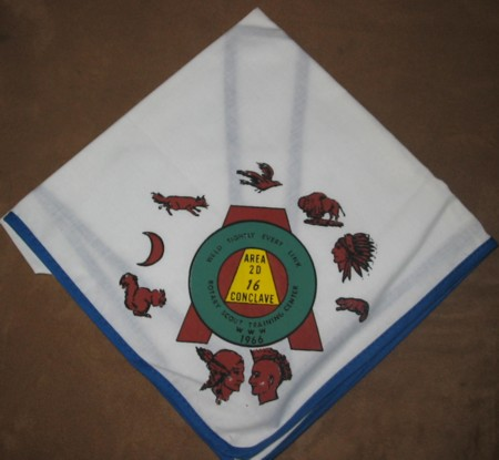 Area 2-D 1966 Conclave Neckerchief