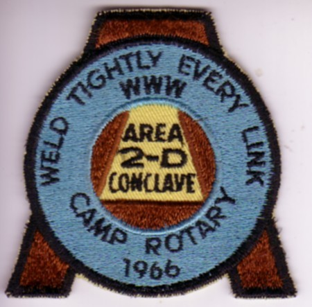 Area 2-D 1966 Conclave Pocket Patch