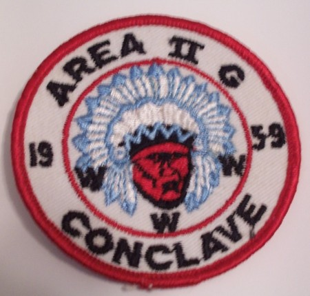 Area 2-G 1959 Conclave Pocket Patch
