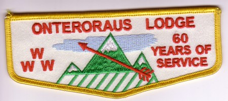 Onteroraus Lodge #402 60th Anniversary Flap F4