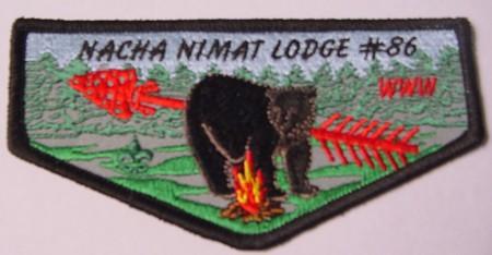 Nacha Nimat Lodge #86 New Regular Issue Flap F1