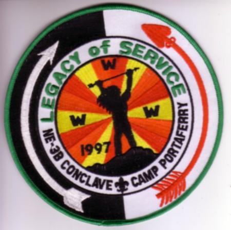 Section NE-3B 1997 Conclave Jacket Patch