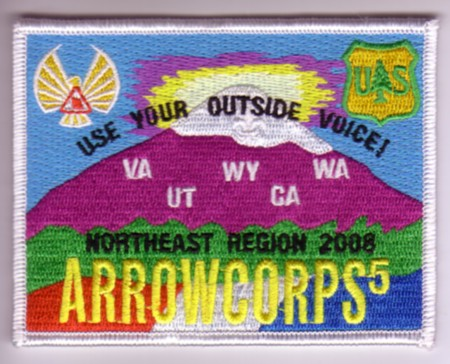 North East Region ArrowCorps5 Pocket Patch