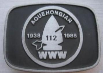 Aquehongian Lodge #112 50th Aniversary Buckle