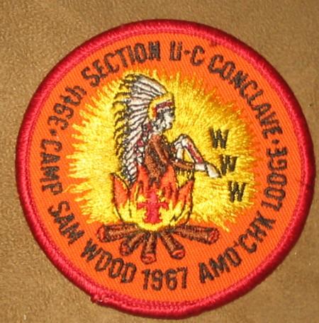 Section NE-2C 1987 Conclave Pocket Patch