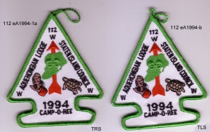 Aquehongian Lodge #112 eA1994-1a and eA1994-1b