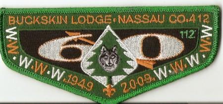 Buckskin Lodge #412 60th Anniversary Flap S58