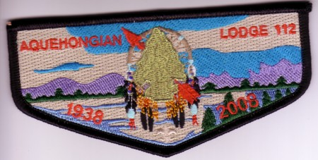 Aquehongian Lodge #112 70th Anniversary Flap S37