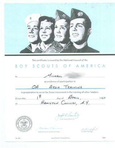1967  Area 2-G TRaining  Certificate