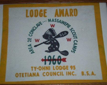 1960 Area 2-E Lodge Award