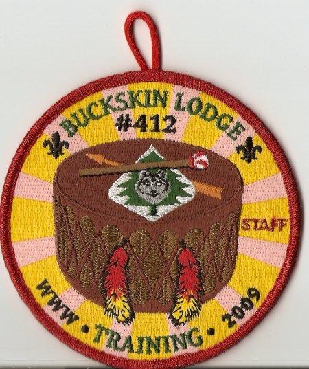 Buckskin Lodge #412 2009 Training Staff Patch R12