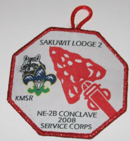 Sakuwit Lodge #2 2008 NE-2B Service Corps X26