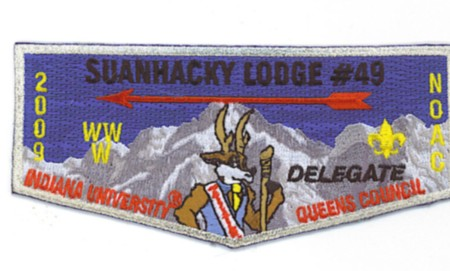 Suanhacky Lodge #49 2009 NOAC Delegate Flap S65
