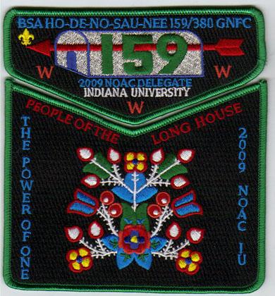 Ho-De-No-Sau-Nee Lodge #159 2009 NOAC Delegate Set S46 X21