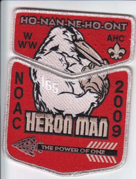 Ho-Nan-Ne-Ho-Ont Lodge #165 2009 NOAC Delegate Set S30a X10a