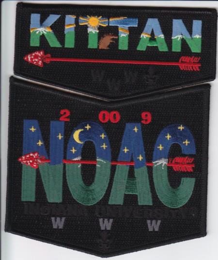 Kittan Lodge #364 2009 NOAC Set S6 X3