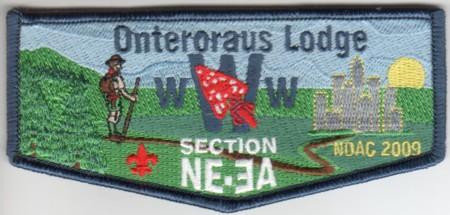 Onteroraus Lodge #402 Section NE-3A 2009 NOAC Flap S49