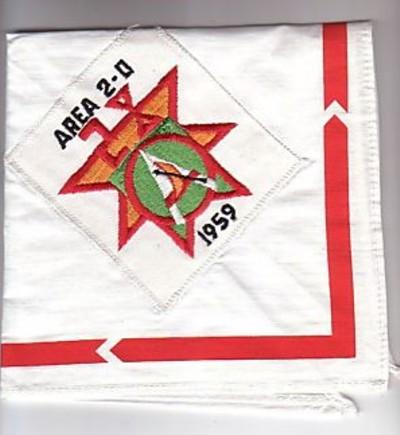 Area 2-D 1959 Neckerchief