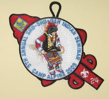 Shu Shu Gah Lodge 9th Annual Indian Seminar Cub Scout Patch eA2009-3