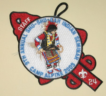 Shu Shu Gah Lodge #24 9th Annual Indian Seminar Staff Patch eA2009-4