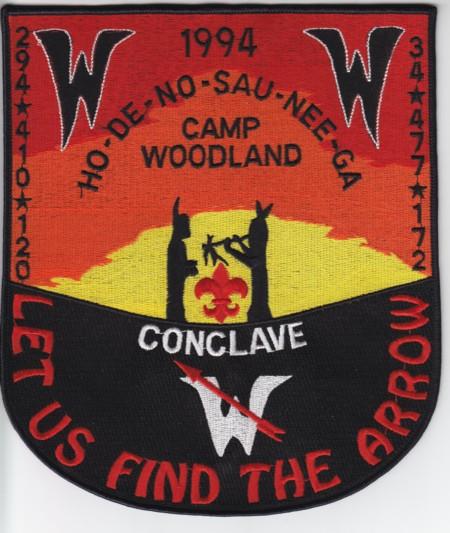 """Section NE-7B 1994 Jacket Patch approximately 7"""" by 9"""""""