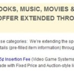 eBay $0.05 Listing Fees for Books, Movies and DVD's