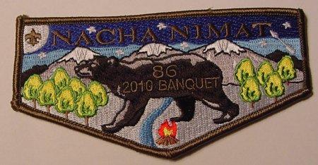 Nacha Nimat Lodge #86 2010 Banquet Flap eS2010-1