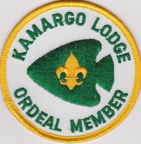 Kamargo Lodge #294 Ordeal Member R4a TLS