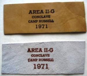 Area 2-G 1971 Neckerchief Slide